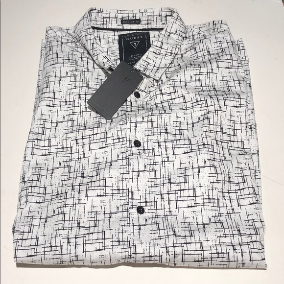 All Mens Sale Guess >> Guess Mans White Black Men S Short Sleeve L Nwt